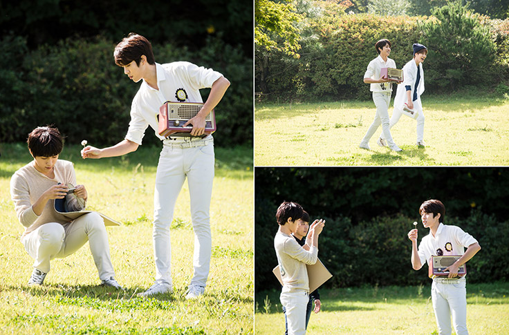 L transforms into a photographer, Sungyeol into a model