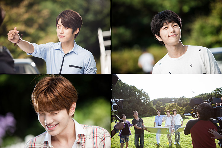 Each member showing their charm in close-up shots